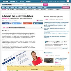 Digital love: how data can help your dating: All about the recommendation