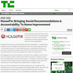 HouseFix: Bringing Social Recommendations & Accountability To Home Improvement