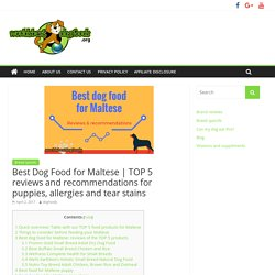 TOP 5 reviews and recommendations for puppies, allergies and tear stains