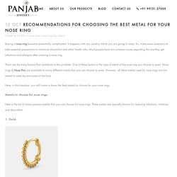 Recommendations for choosing the best metal for your Nose Ring - Panjab Jewelry