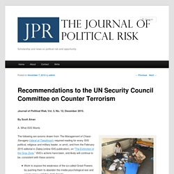 Recommendations to the UN Security Council Committee on Counter Terrorism