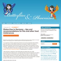 Gluten-free in Germany – tips and recommendations for this and other food intolerances