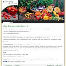 Plant Recommendations Zones 6-8 » Edible Landscaping with Rosalind Creasy