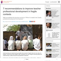 7 recommendations to improve teacher professional development in fragile contexts