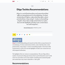 Diigo Tackles Recommendations