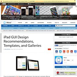 iPad GUI Design Recommendations, Templates, and Galleries | TiPb