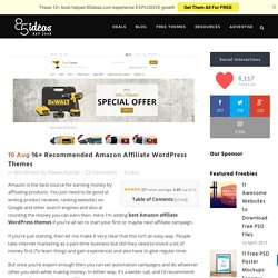 16+ Recommended Amazon Affiliate WordPress Themes