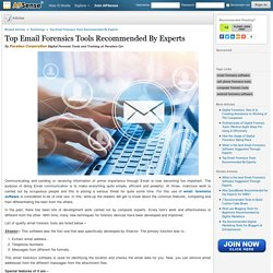 Top Email Forensics Tools Recommended Experts - Paraben Corporation