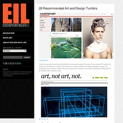 28 Recommended Art and Design Tumblrs
