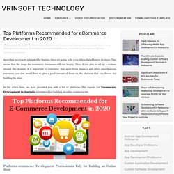 Top Platforms Recommended for eCommerce Development in 2020 - Vrinsoft Technology