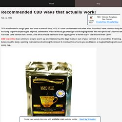 Recommended CBD ways that actually work! - EverlastingCBD