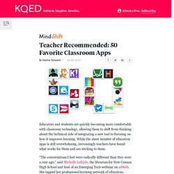 Teacher Recommended: 50 Favorite Classroom Apps