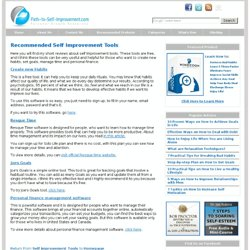 Recommended Free Self Improvement Tools