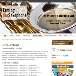 Recommended Jazz Theory and Improvisation Books and Sheet Music
