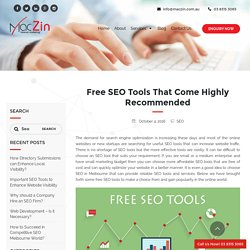 Several Recommended Free SEO Tools - MacZin Internet Marketing