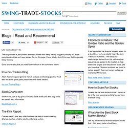 Recommended Stock Market and Swing Trading Blogs