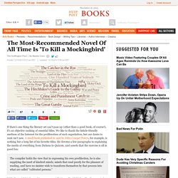 The Most-Recommended Novel Of All Time Is 'To Kill a Mockingbird'