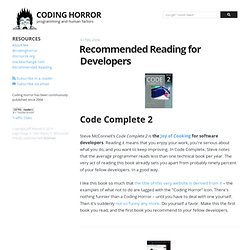 Recommended Reading for Developers