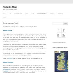 Recommended Tools - Fantastic Maps