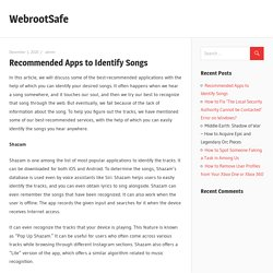 Recommended Apps to Identify Songs – WebrootSafe