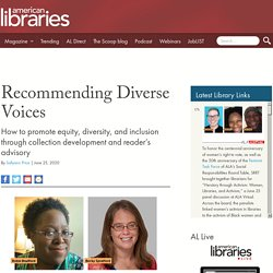 Recommending Diverse Voices