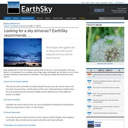 Looking for a sky almanac? EarthSky recommends …