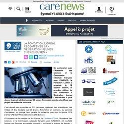 La Fondation L'Oréal récompense la « Génération Jeunes Chercheuses » - Carenews
