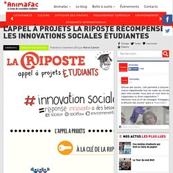 L'appel à projets La Riposte récompense les innovations sociales