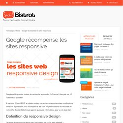 Google récompense les sites responsive