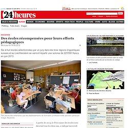 Education: Des écoles récompensées pour leurs efforts pédagogiques - Suisse