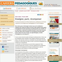 Enseigner, punir, récompenser