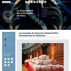 Les lauréats du Concours Général 2014 récompensés en Sorbonne - La Chancellerie des Universités de Paris