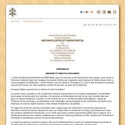 Exhortation apostolique sur la réconsiliation et la pénitence (1984) {Jean Paul II}