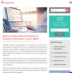 Why Balance Sheet Reconciliation is Crucial to Business?