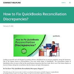 How to Fix QuickBooks Reconciliation Discrepancies?