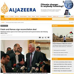 Fatah and Hamas sign reconciliation deal - Middle East