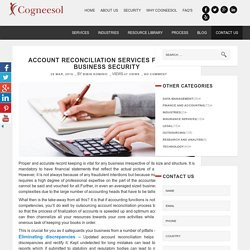 Account Reconciliation Services For Business Security