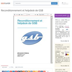 ⭐Reconditionnement et helpdesk de GSB