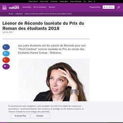 Léonor de Récondo lauréate du Prix du Roman des étudiants 2018