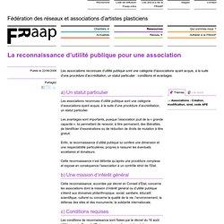 6 La reconnaissance d'utilité publique pour une association