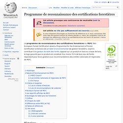 Un intérêt commun (Certifications forestières sur Wikipédia)