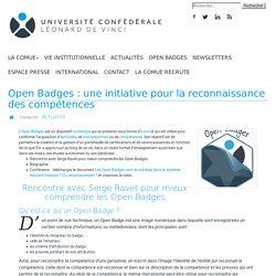 Open Badges : une initiative pour la reconnaissance des compétences - Université Confédérale Léonard de Vinci