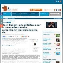 1 Open Badges : une initiative pour la reconnaissance des compétences tout au long de la vie