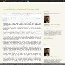 Reconnaissance du sous diagnostic de la borréliose par le CDC - Maladie de Lyme chronique ou neuro borréliose