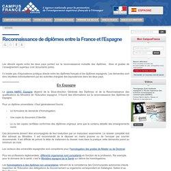Reconnaissance de diplômes entre la France et l'Espagne > Espagne