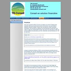 Reconnaissance de dettes - TB Conseil : Conseil en solution financière
