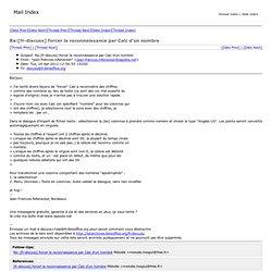 Re:[fr-discuss] forcer la reconnaissance par Calc d'un nombre - The Document Foundation Mailing List Archives
