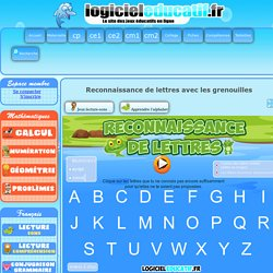 Reconnaissance lettres en majuscule, script et cursif GS et CP - Grenouille