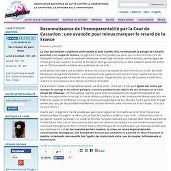 Reconnaissance de l'homoparentalité par la Cour de Cassation : une avancée pour mieux marquer le retard de la France