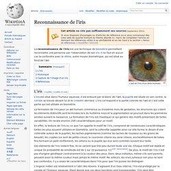 Reconnaissance de l'iris